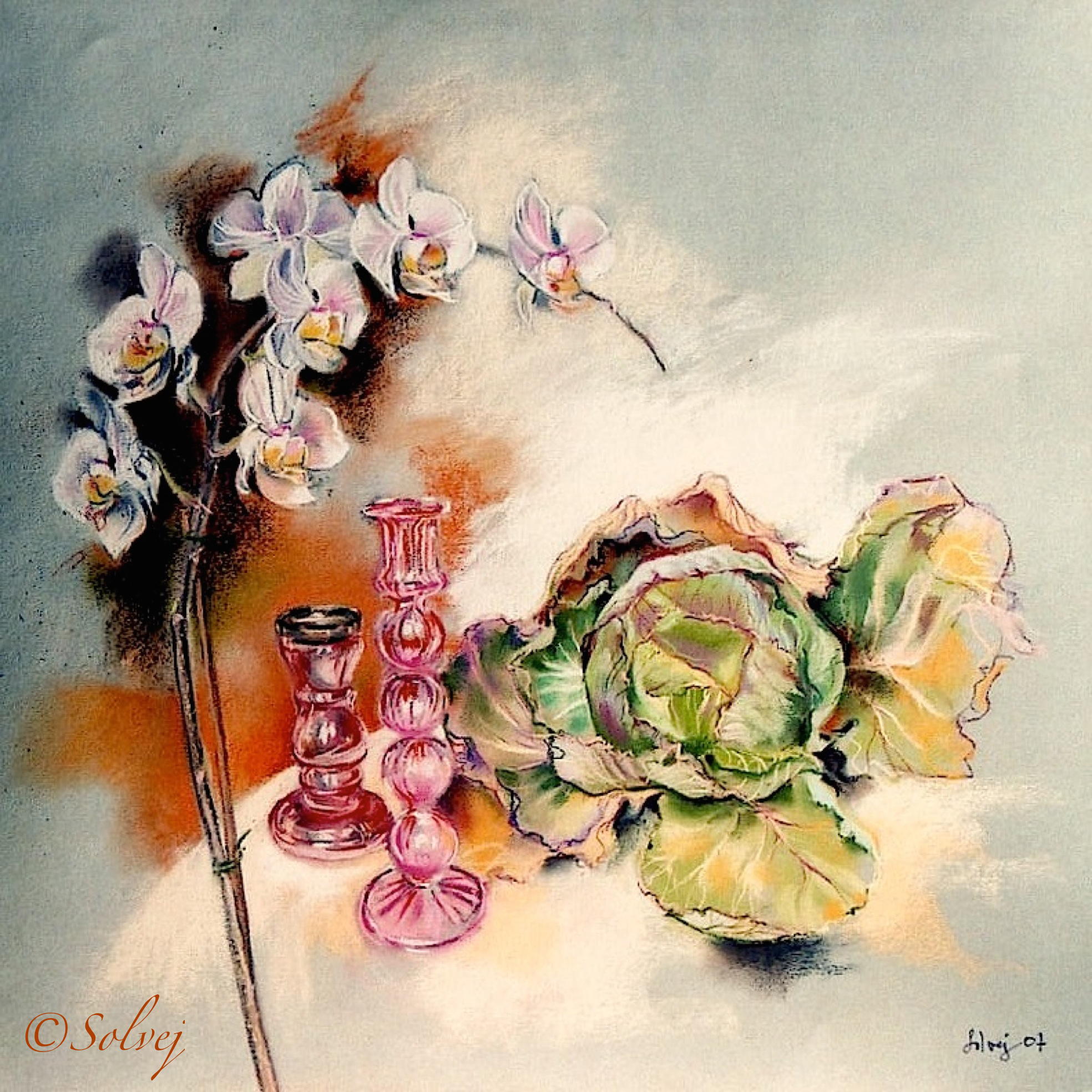 Les bougeoirs roses 543