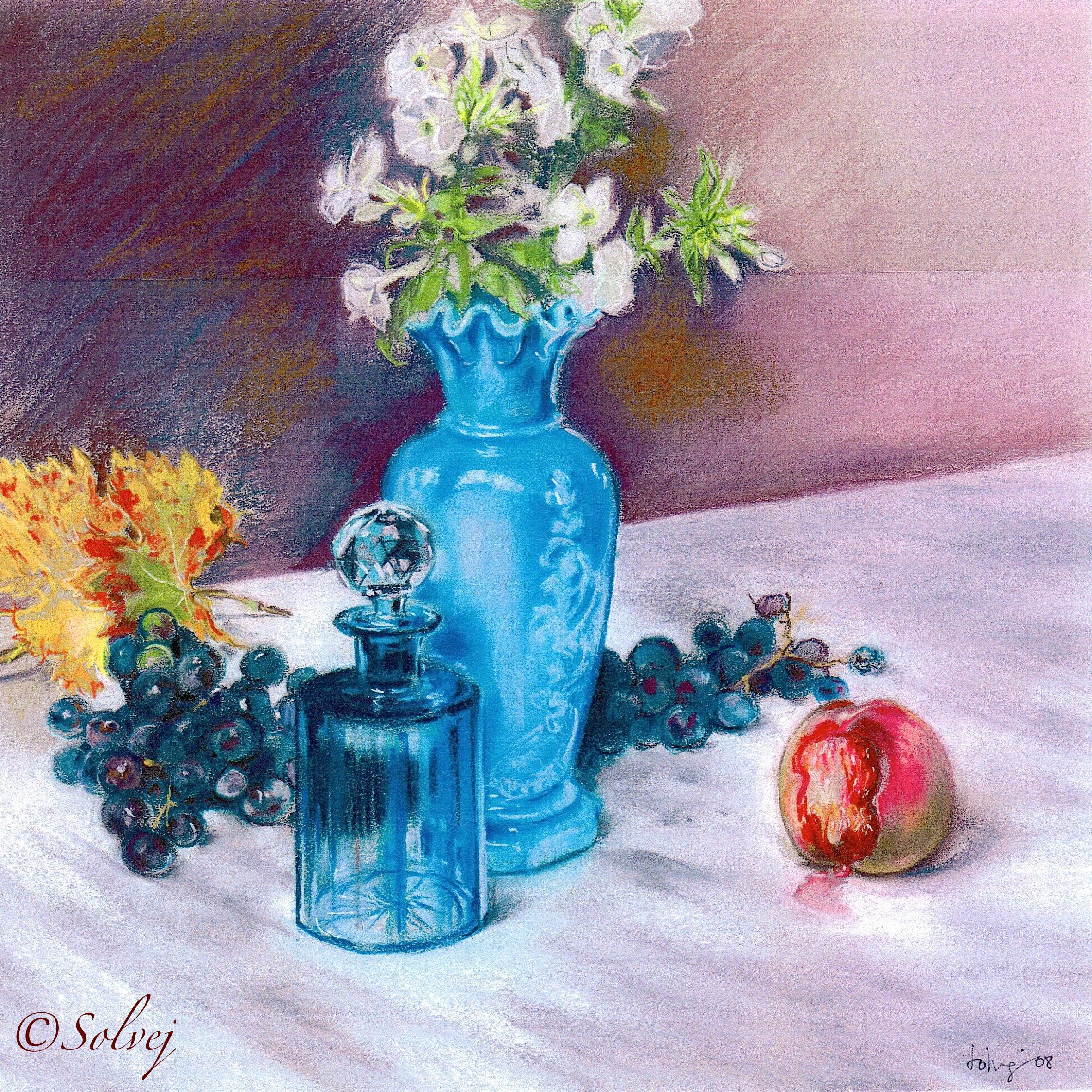 Le vase d'opaline turquoise 549