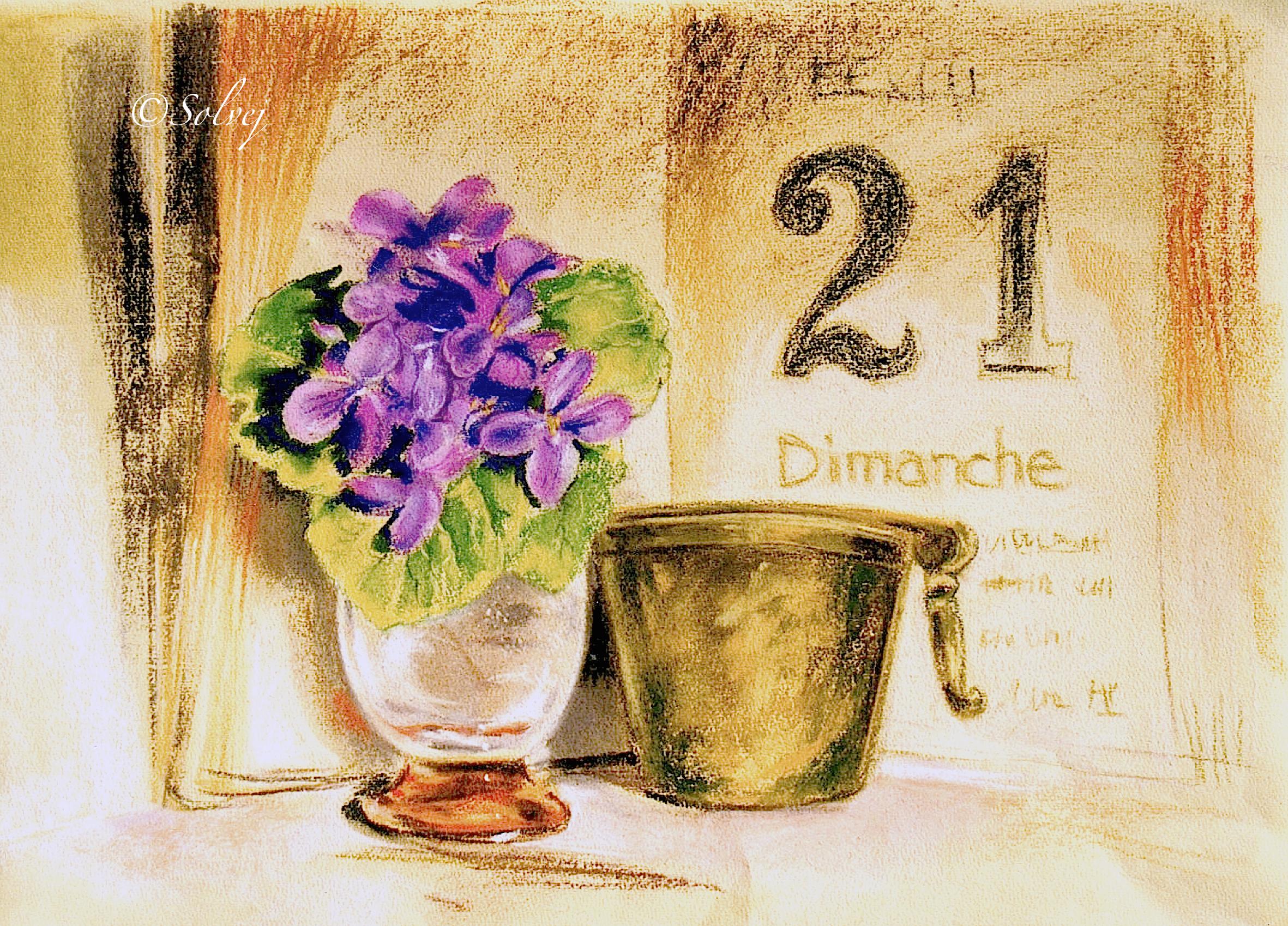 Le bouquet de violettes  316