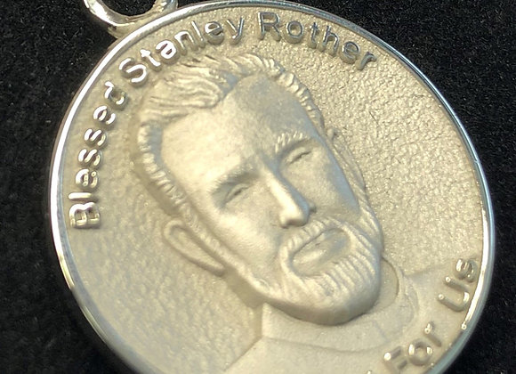 Sterling Silver Blessed Stanley Rother Medal