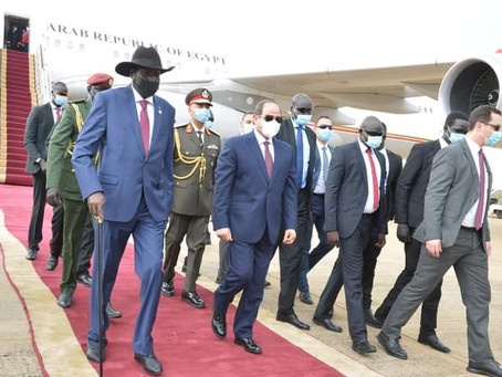 South Sudan - Egypt: President Al-Sisi Conducts a Working Visit in South Sudan,