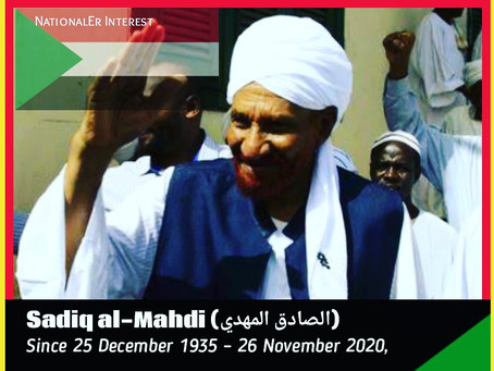 SUDAN: Sadiq al-Mahdi 84, died of COVID-19 in UAE Hospital