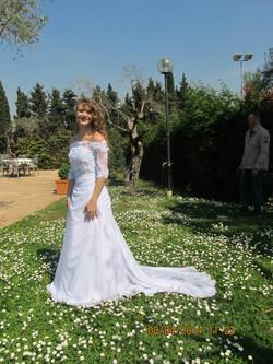 Backstage Glamorosa abiti da sposa