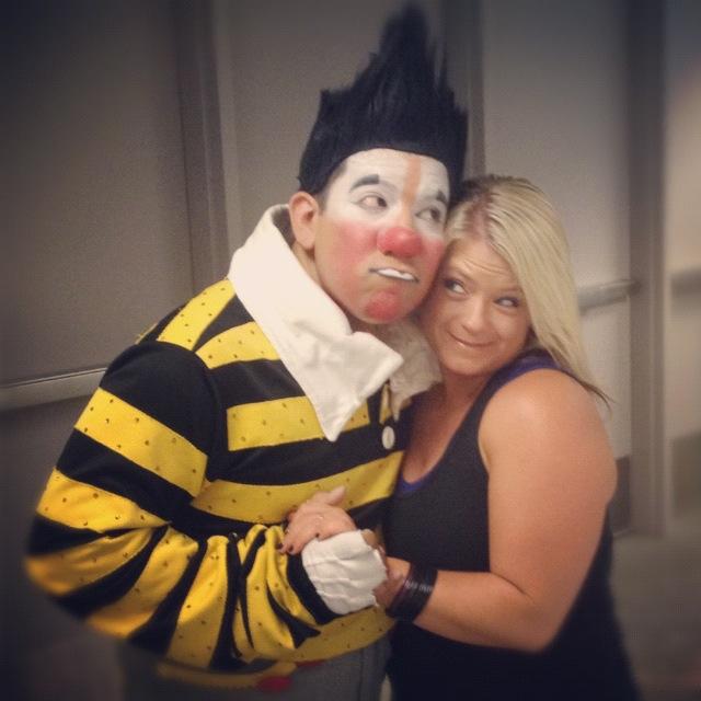 Backstage with Oscar the Clown