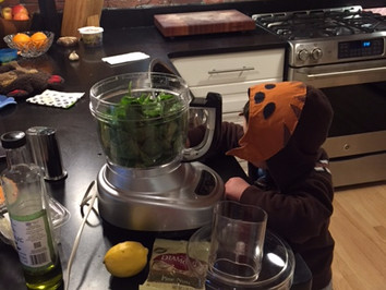 Cooking with a wookie (or a toddler)