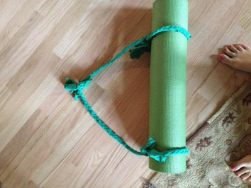 This is as crafty as I get- yoga mat strap