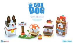 BOXDOG - BLUE BIRD PAPER TOY