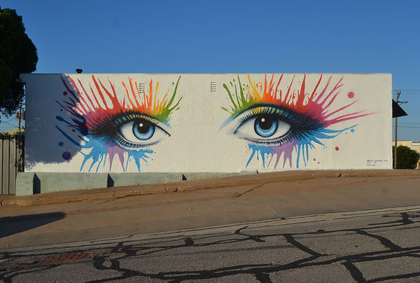 Just one of the many murals in downtown Wichita Falls.