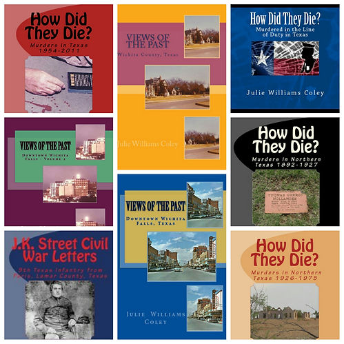 Historical Tours of Wichita Falls- Books by author Julie Coley