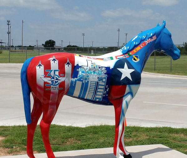 Painted Horse at Sheppard Air Force Base, Texas