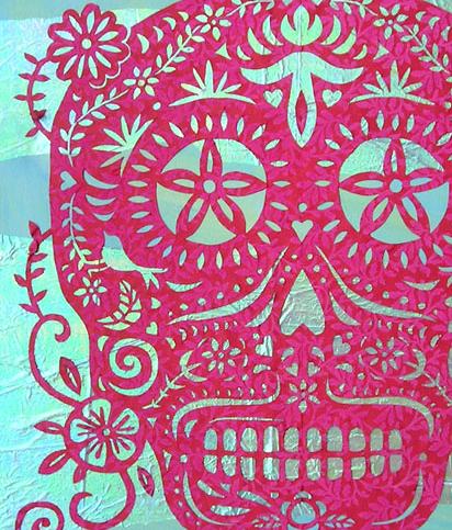 Aqua skull up close