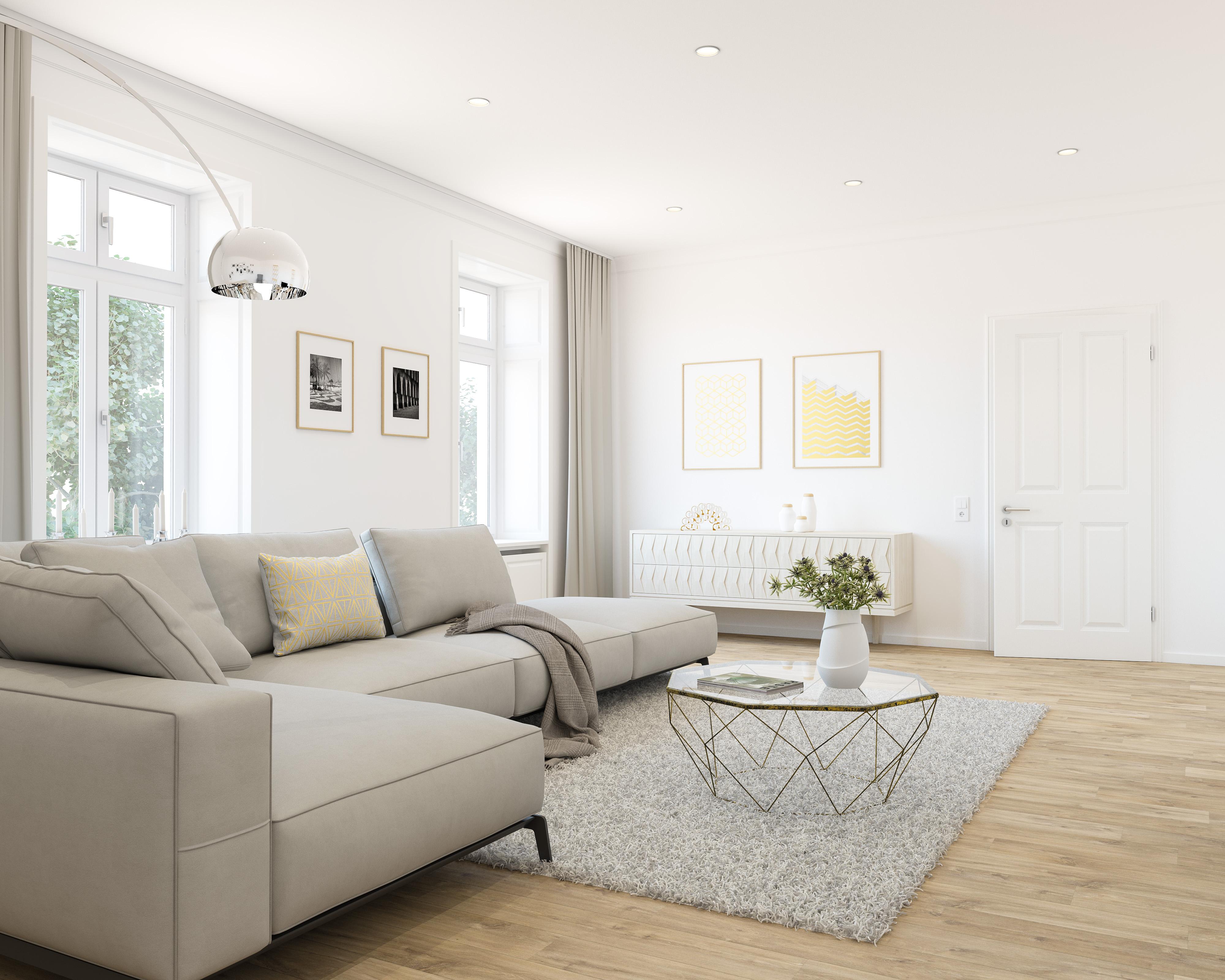 Sanierungsstandard-Wohnzimmer