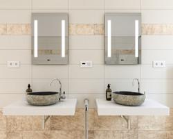 Sanierungsstandard-Badezimmer-Detail
