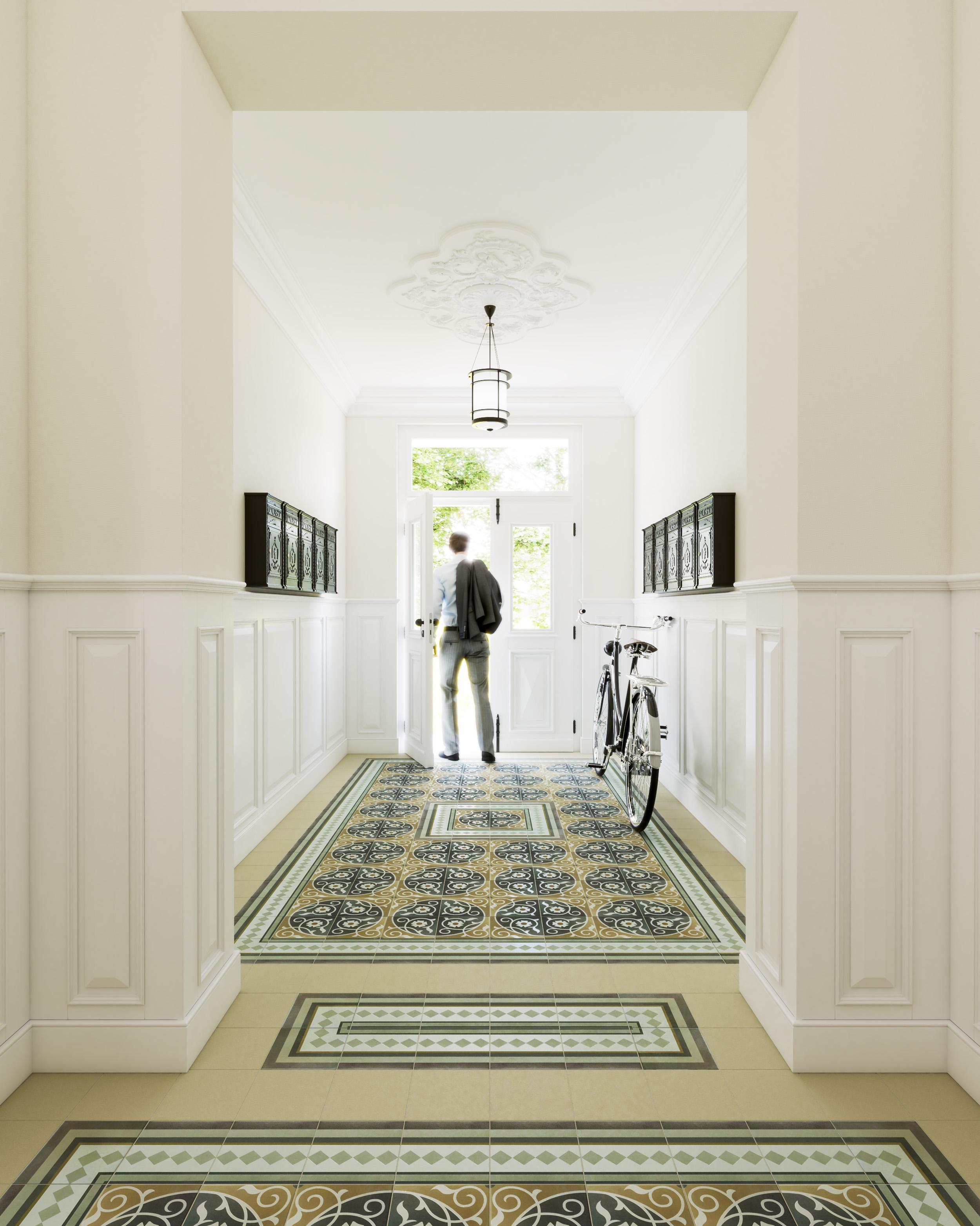 Visualisierung-Treppenhaus-Eingang