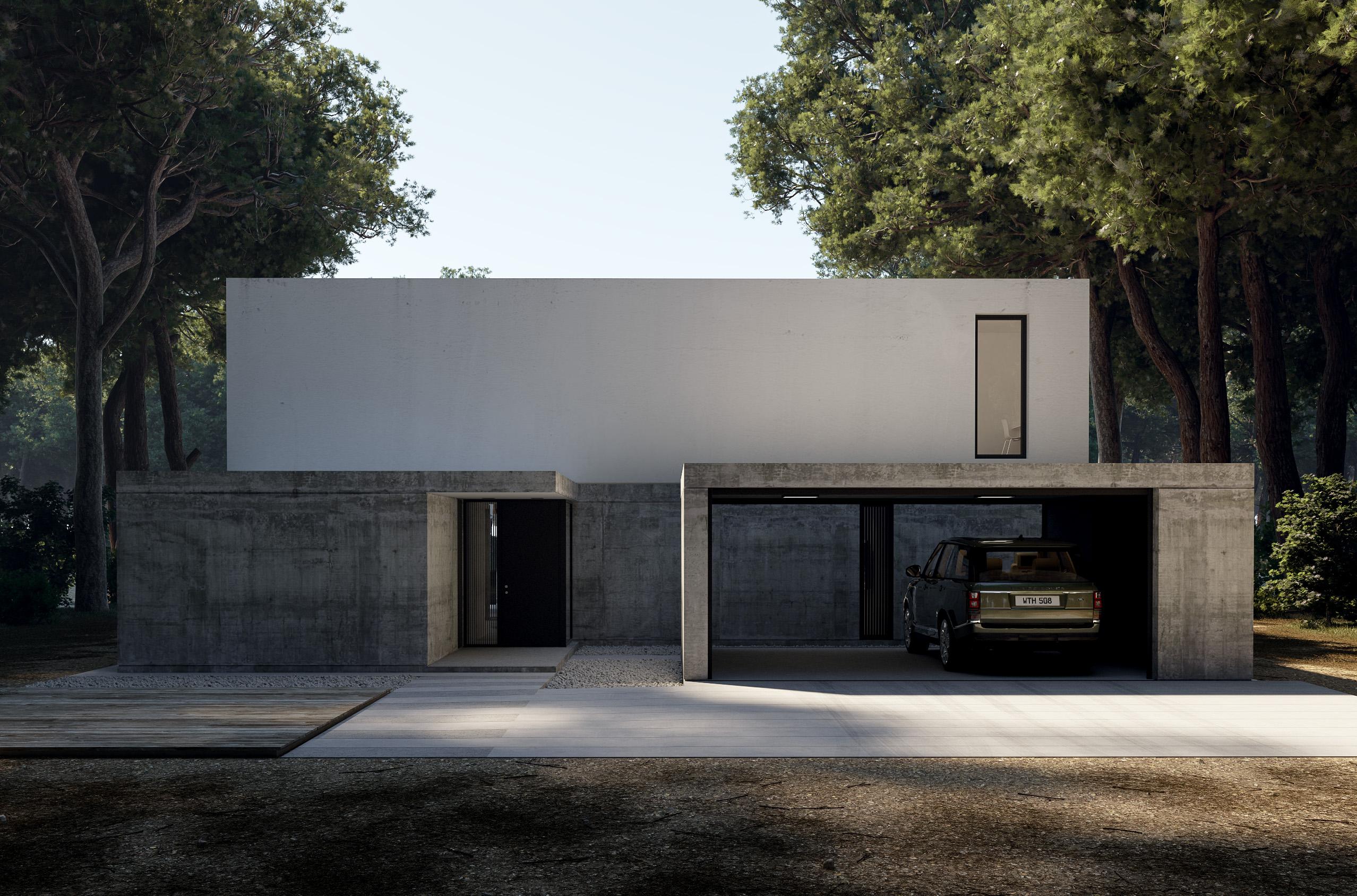 Visualisierung-Einfamilienhaus-vorne