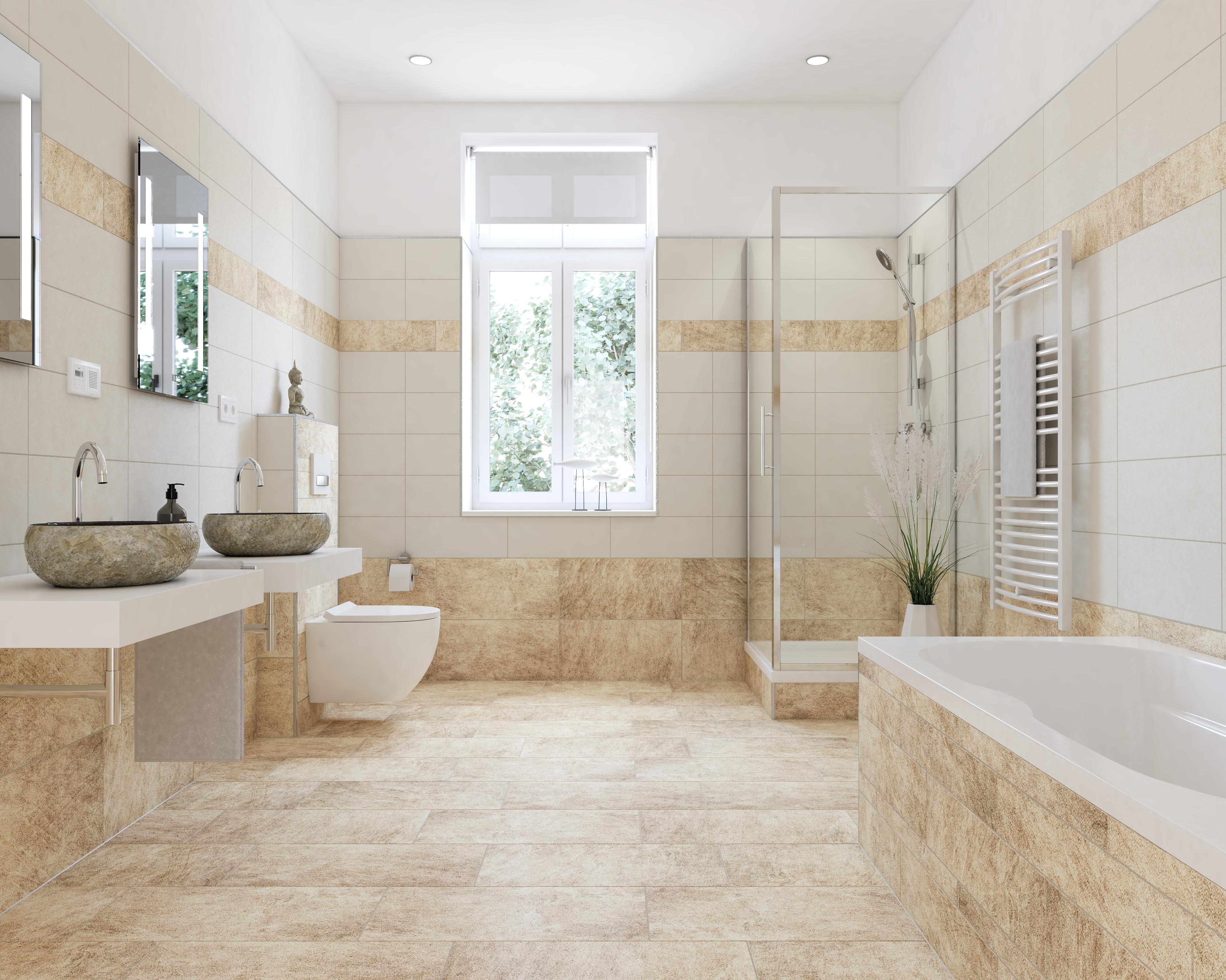 Sanierungsstandard-Badezimmer