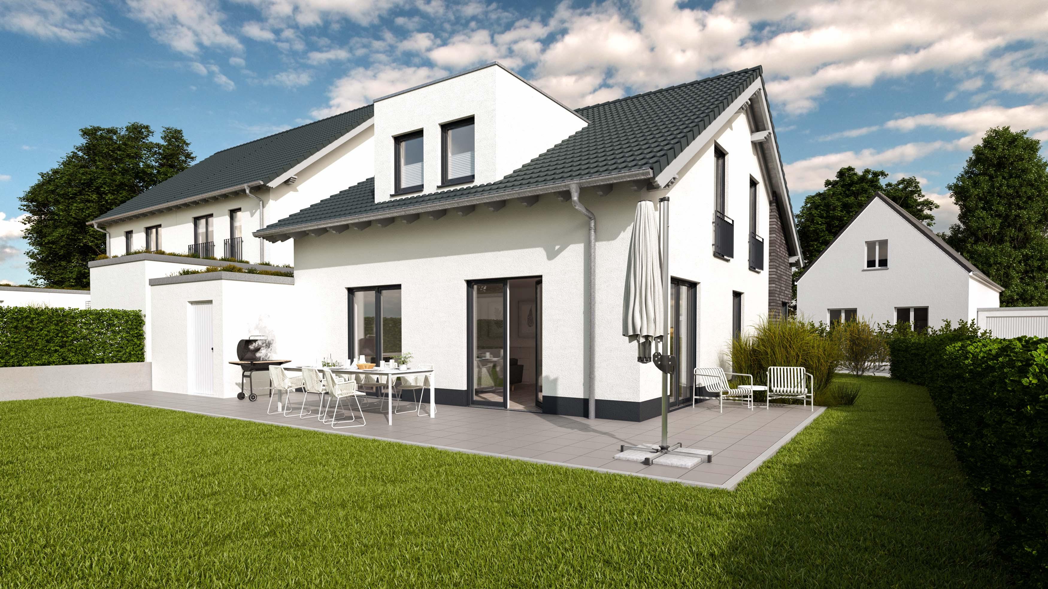 Architekturvisualisierung-Einfamilienhaus-hinten