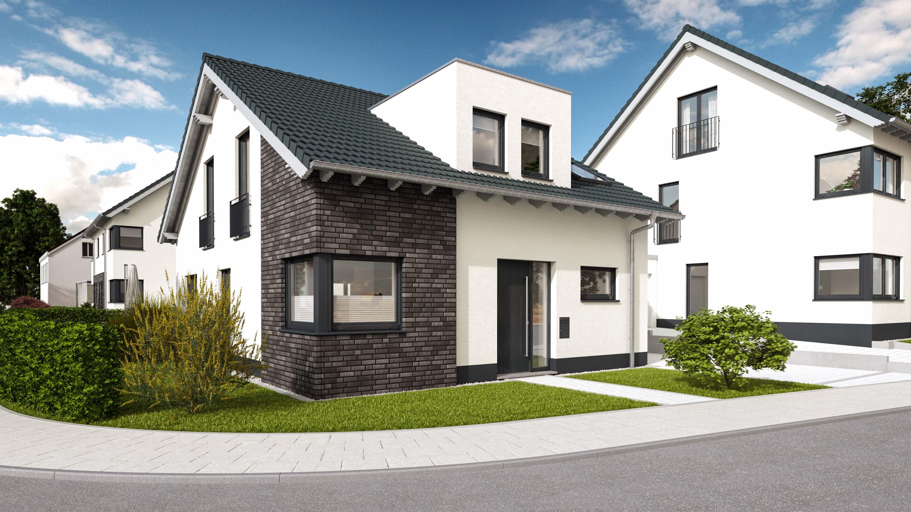 Architekturvisualisierung-Einfamilienhaus-vorne
