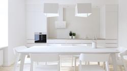 Appartement-Küche-weiss
