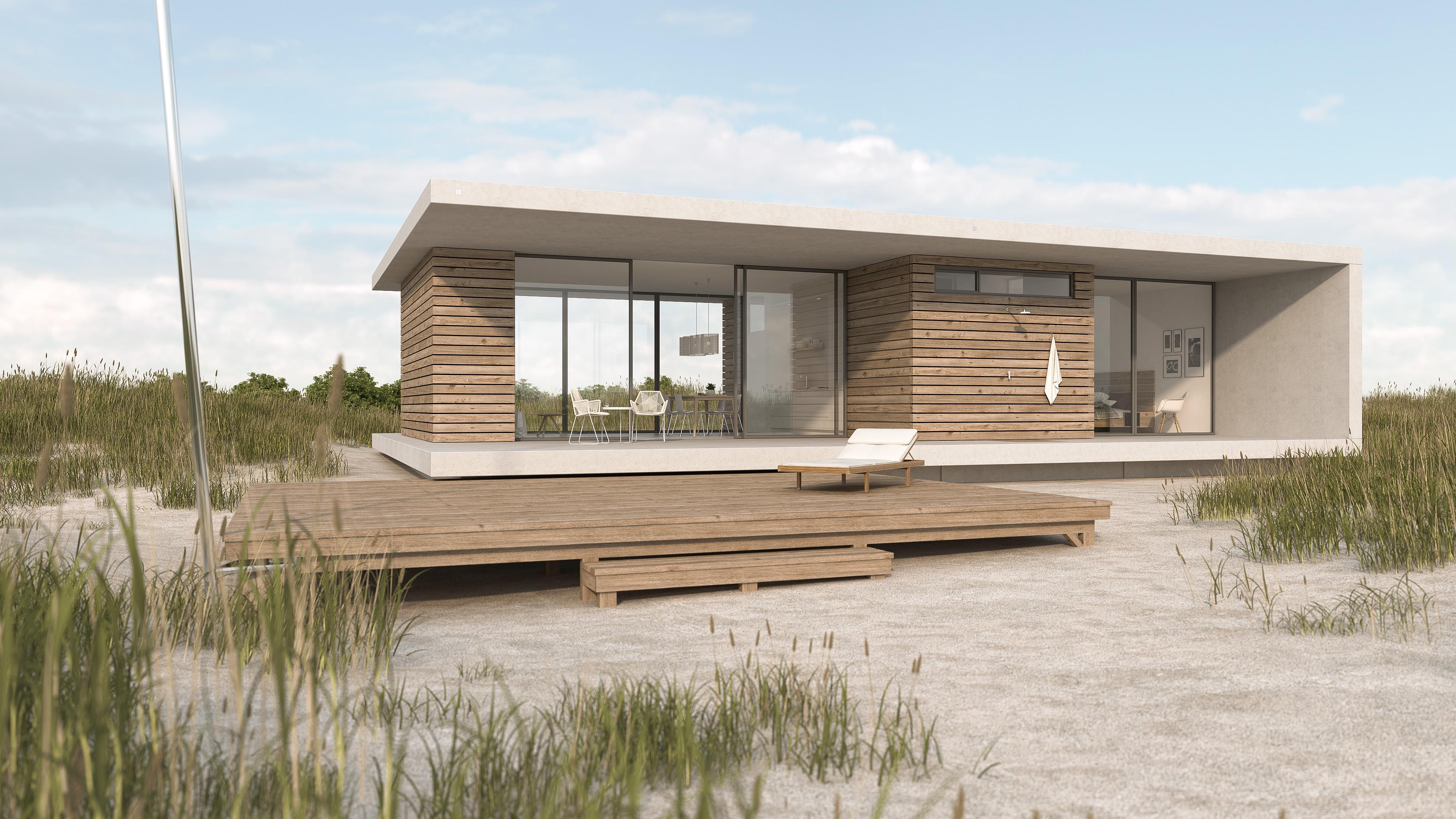 Visualisierung-Strandhaus-Duinzand