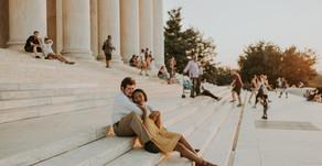 Kayla & Sam: Thomas Jefferson Memorial and Dinosaur Land Engagement Session