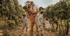 The Sheahin Family: Vineyard & Sunflower Field Family Session