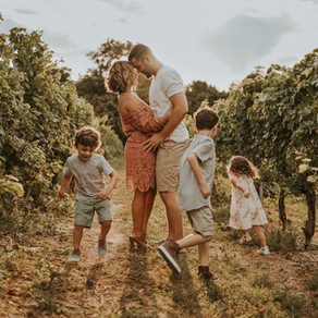The Sheahin Family: Vineyard & Sunflower Field Family Session