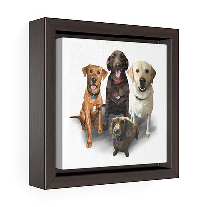 Roy Family - 6x6 Framed Canvas