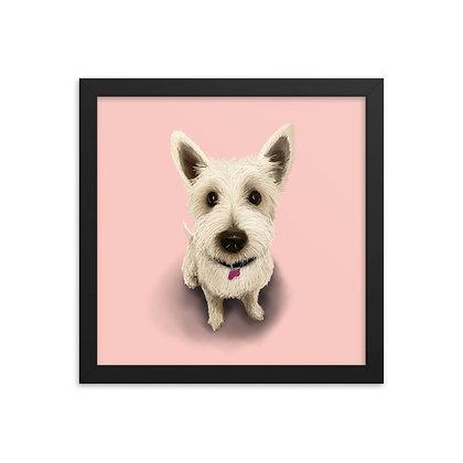 Livvie - 12x12 Framed Poster