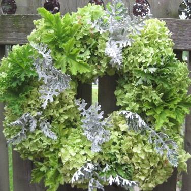 DIY Fresh Hydrangea wreath