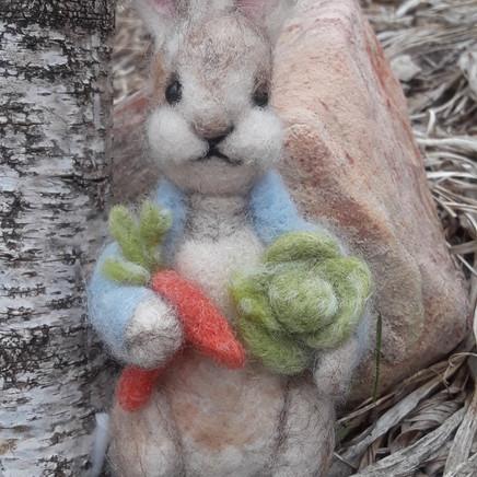 Peter Rabbit needle felting tutorial
