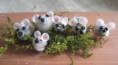 pussywillow crafts mice