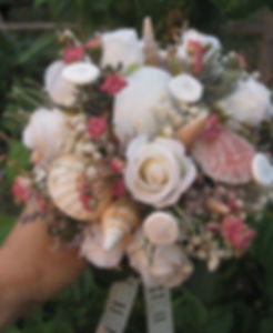 Seashell bridal/wedding bouquet