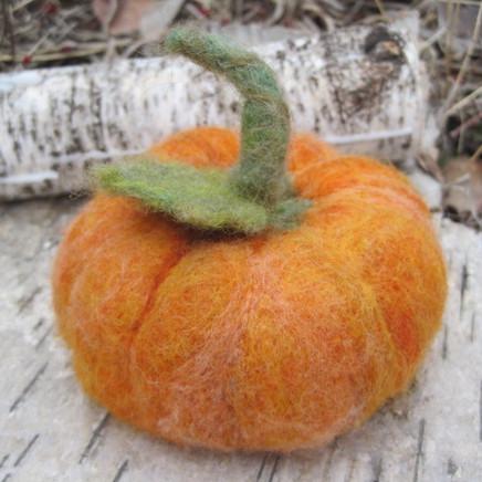 How to Needle Felt a pumpkin!