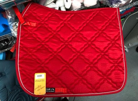 Red dressage pad - full
