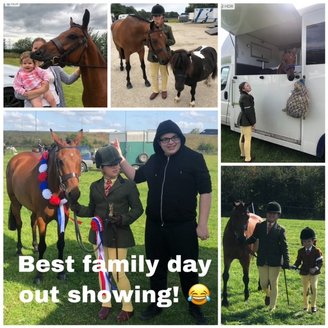 Lilly Stewart and her family and ponies