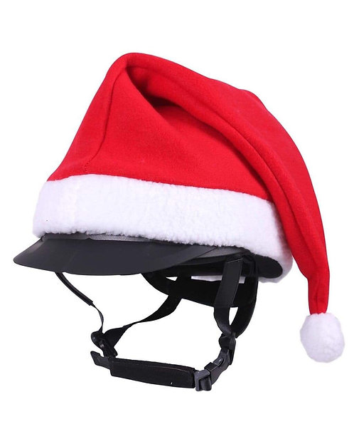 Christmas riding hat cover
