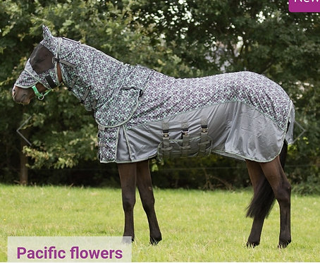 Fly rug with detachable neck and mask