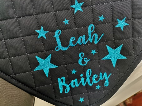 Personalised Glitter Printed Saddle Pad