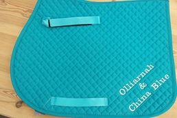 Colour Saddle Pad - Personalised