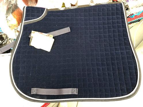 Navy velvet saddle pad - cob