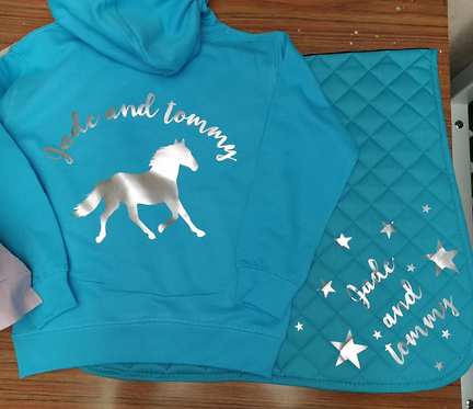 Printed Hoody and Saddle Pad - Children's