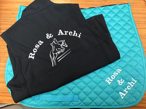 Personalised Saddle Pad & Bodywarmer