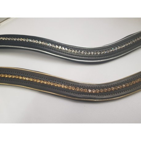 Wave Crystal Browbands - matching piping