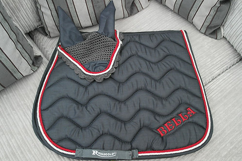 Personalised Wave Saddle Pad