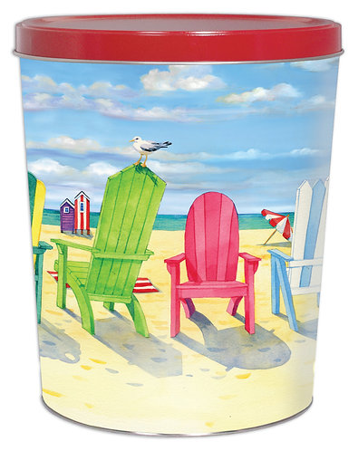 3½ Gallon Beach Chair Tin (Empty)