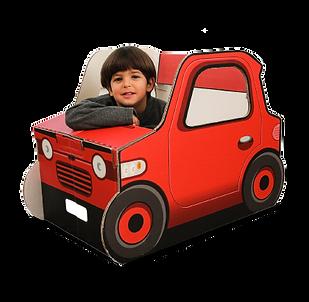 Popin cardboard car