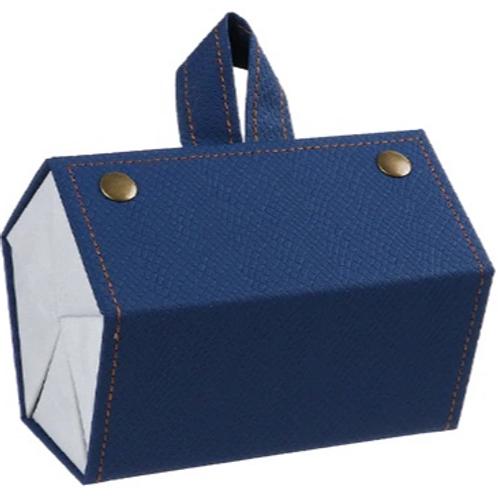 Organizador de óculos portátil - Azul - 5 compartimentos