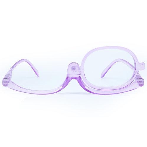 Óculos de maquiagem - Purple Transparent