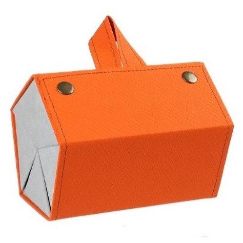 Organizador de óculos portátil - Laranja - 5 compartimentos